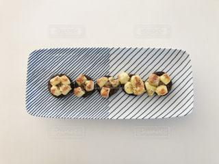 椎茸のブルーチーズ焼きの写真・画像素材[1659493]