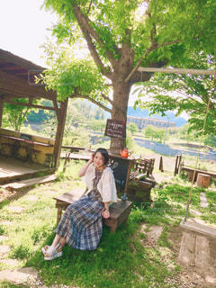休日のカフェの写真・画像素材[1186115]