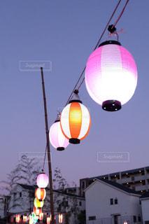 お祭りの提灯の写真・画像素材[1319412]