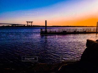 弁天島の夕焼けの写真・画像素材[1187557]