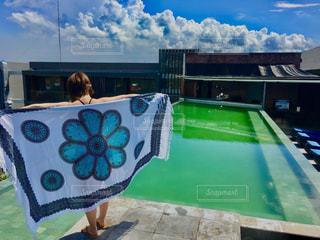 バリ島ホテルのプールの写真・画像素材[1188784]