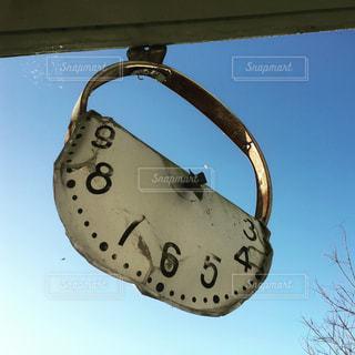 南相馬請戸小学校の津波被災した時計の写真・画像素材[1190835]