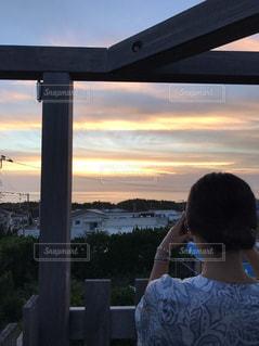 新島のサンセットの写真・画像素材[1230787]