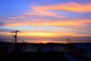新島の夕焼けの写真・画像素材[1230790]