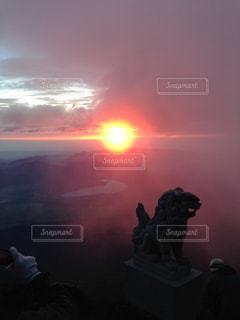 日の出 御来光の写真・画像素材[1192365]