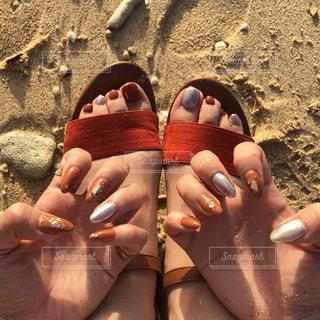 海とネイルの写真・画像素材[2111404]
