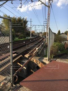 鋼のトラックの列車の写真・画像素材[1194564]