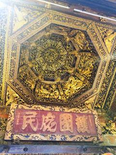お寺の天井の写真・画像素材[1200348]