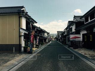 大分県豆田町の街並みの写真・画像素材[1195511]