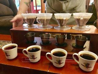 コロンビアコーヒーの飲み比べの写真・画像素材[1195384]