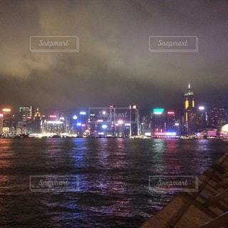 香港の夜景の写真・画像素材[1195386]