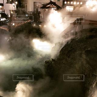 草津の湯畑の写真・画像素材[1194578]