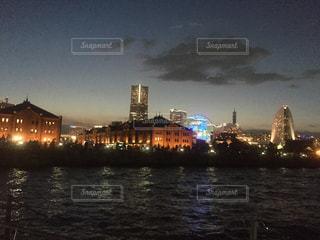 赤レンガ倉庫夜景 横浜の写真・画像素材[1195246]