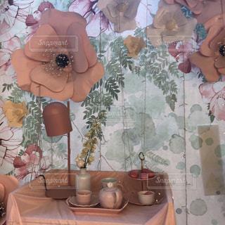 フラワー多めなカフェの写真・画像素材[1511154]