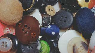 たくさんのボタンの写真・画像素材[1319111]