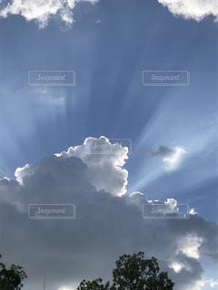 天国からの光みたいの写真・画像素材[1342187]