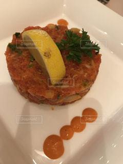 肉と野菜をトッピング白プレート - No.1196881