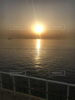 海原と朝日の写真・画像素材[1197720]