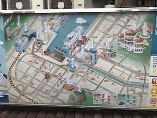 基隆港の地図看板の写真・画像素材[1198037]