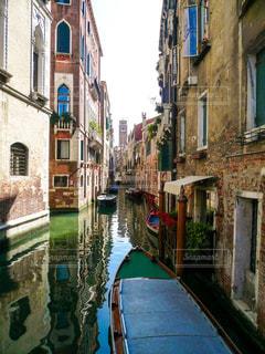 ヴェネツィアの小運河の写真・画像素材[1214406]