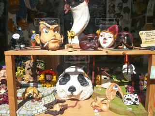 ヴェネツィアのカーニバル用のマスク。変わり種の写真・画像素材[1214841]