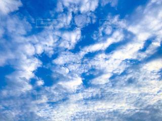 冬の青空と雲の写真・画像素材[1795893]