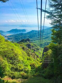 小豆島 寒霞渓 ロープウェイからの眺めの写真・画像素材[2141143]