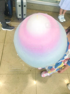 rainbow cotton candyの写真・画像素材[2204957]