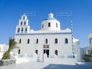 サントリーニの教会の写真・画像素材[2777995]