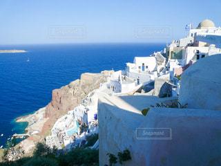 サントリーニ島からのエーゲ海の写真・画像素材[2791369]