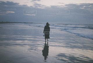 秋の海の写真・画像素材[1553026]