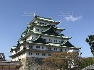 青空と名古屋城の写真・画像素材[1335102]