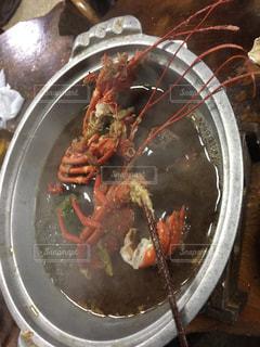 皿の上のロブスターの写真・画像素材[1200247]
