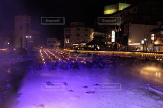夜の湯畑の写真・画像素材[1203632]