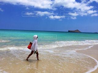 海岸を散歩の写真・画像素材[1202139]