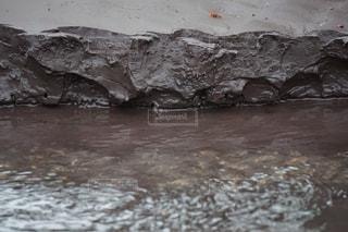 泥の岩盤の写真・画像素材[1202328]