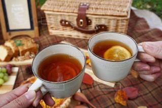 紅茶で乾杯の写真・画像素材[1204271]