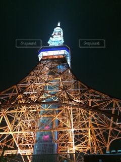 夜の東京タワーの写真・画像素材[1202915]