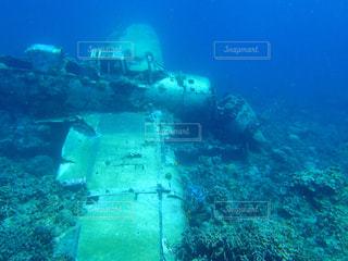 パラオの海底に眠る戦争遺産の写真・画像素材[1202937]