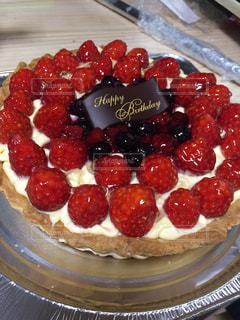 手作りの誕生日ケーキの写真・画像素材[1203118]