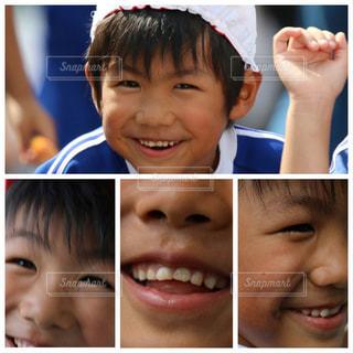 運動会中の子供の笑顔の写真・画像素材[1485443]