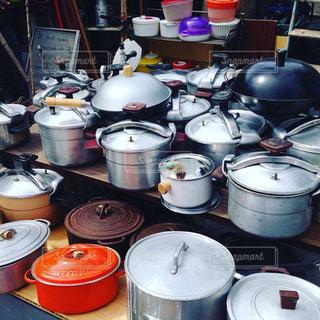 大きめの鍋の写真・画像素材[1218008]