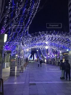 市では、紫色の光の写真・画像素材[1203526]
