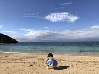 初めてのビーチ - No.1203760