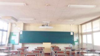 放課後の教室の写真・画像素材[1205579]