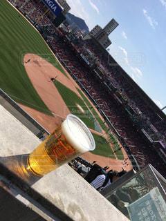 昼からビールの写真・画像素材[1205625]