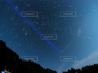 夜空 星空 長野 阿智村の写真・画像素材[1765910]