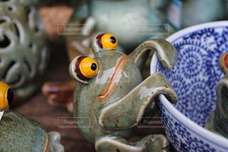 カエルの置物の写真・画像素材[1766431]