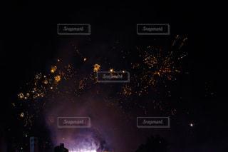 夜空の花火の写真・画像素材[1209852]