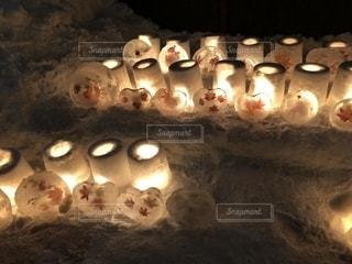 雪灯りフェスティバルの写真・画像素材[1868510]